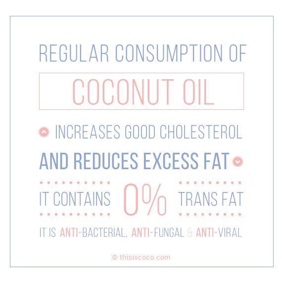 Using coconut oil for health purposes