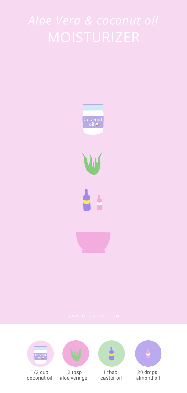 DIY beauty - Aloe Vera coconut oil moisturizer