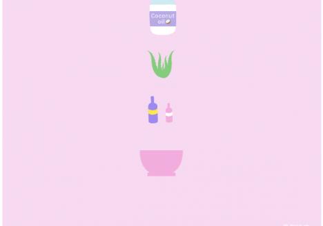 DIY Aloe Vera moisturizer with coconut oil and essential oils
