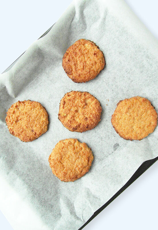 Homemade simple vegan refined sugar-free coconut cookies