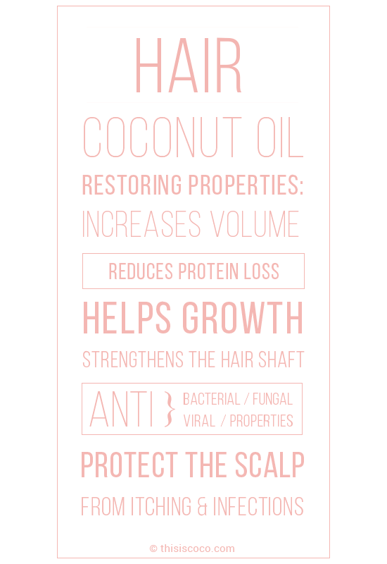 Using coconut oil for hair