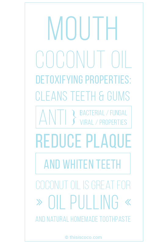 Coconut oil uses for oral hygiene