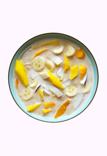 Coconut mango porridge