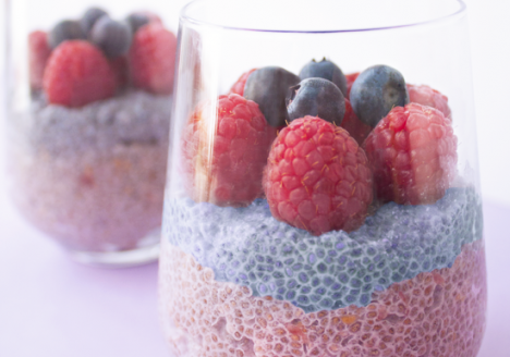 Berry coconut chia pudding