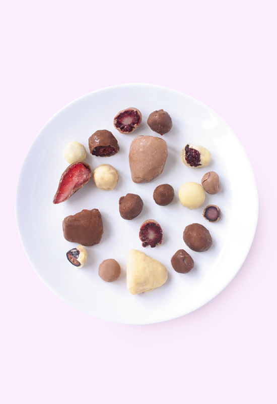 Vegan chocolate covered berries