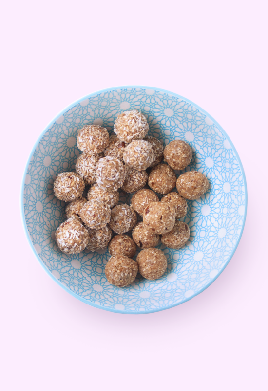 Toasted coconut sesame ladoo