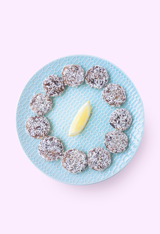 sugar-free lemon ginger date rounds