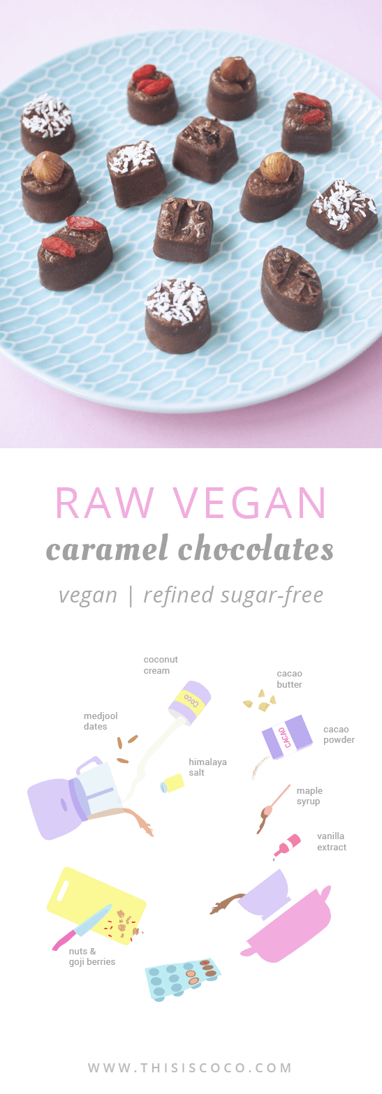 Raw vegan caramel chocolates