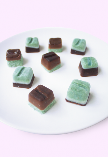 Spirulina coconut chocolates