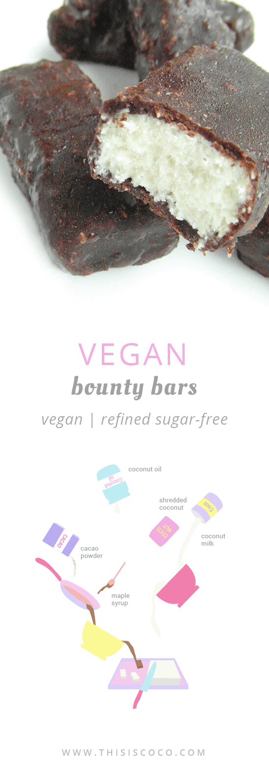 Vegan bounty bars - refined sugar-free