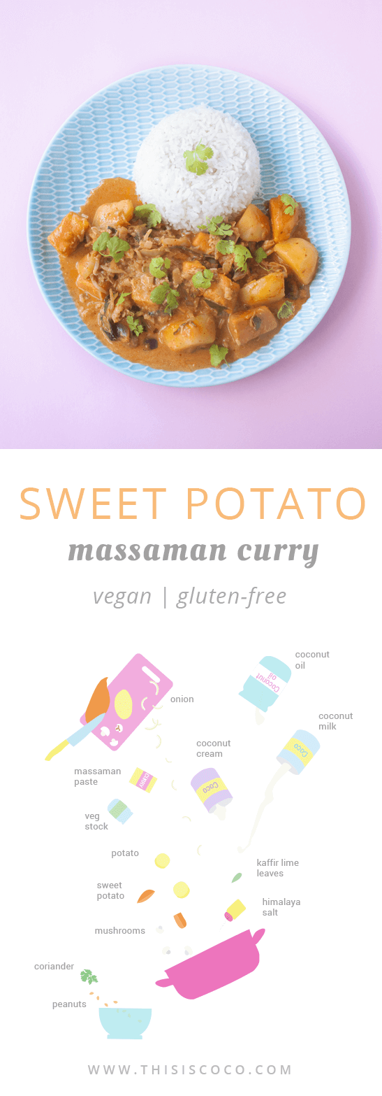 Vegan sweet potato massaman curry
