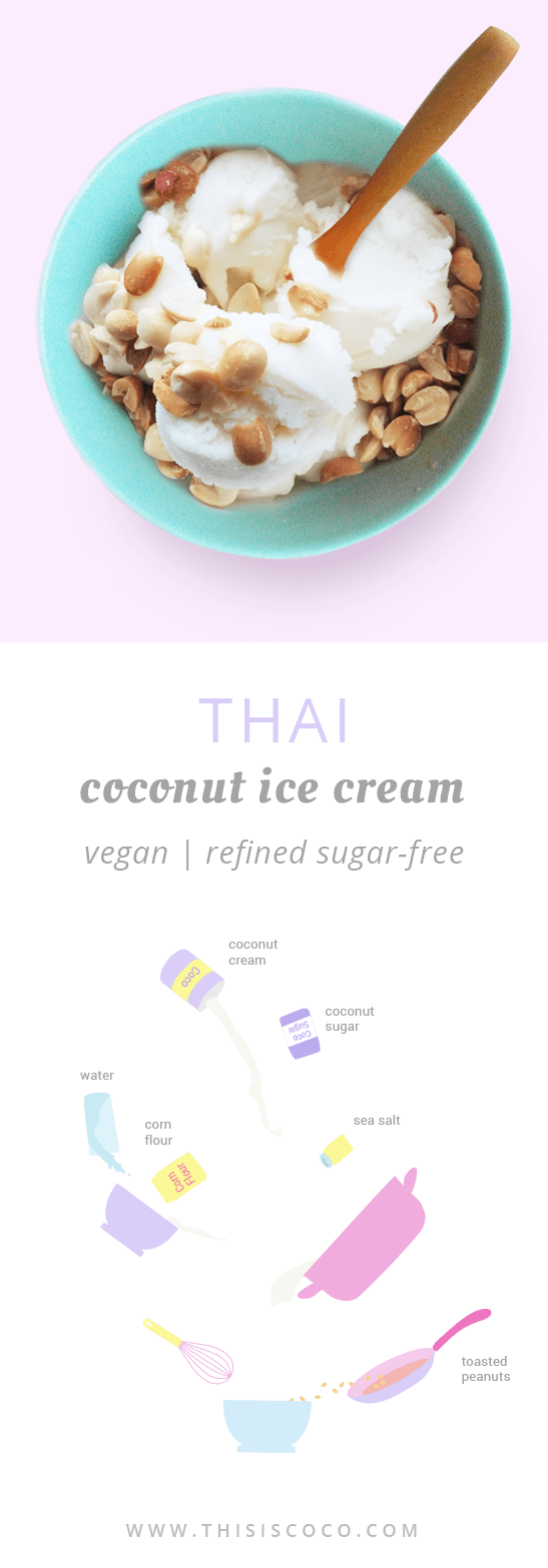 Vegan Thai coconut ice cream