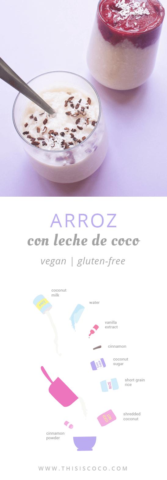 Vegan arroz con leche de coco rice dessert