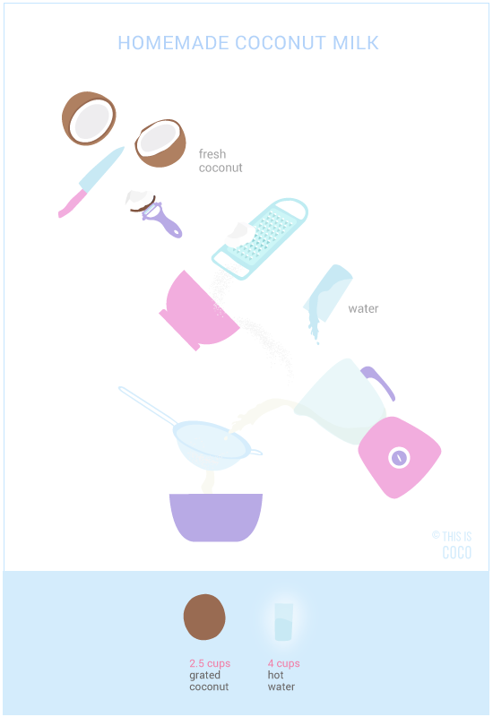 How to make your own coconut milk from fresh coconut