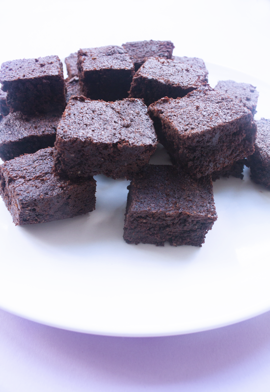 Rich vegan chocolate brownies with coconut sugar