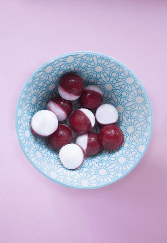 Frozen cherry coconut milk pops