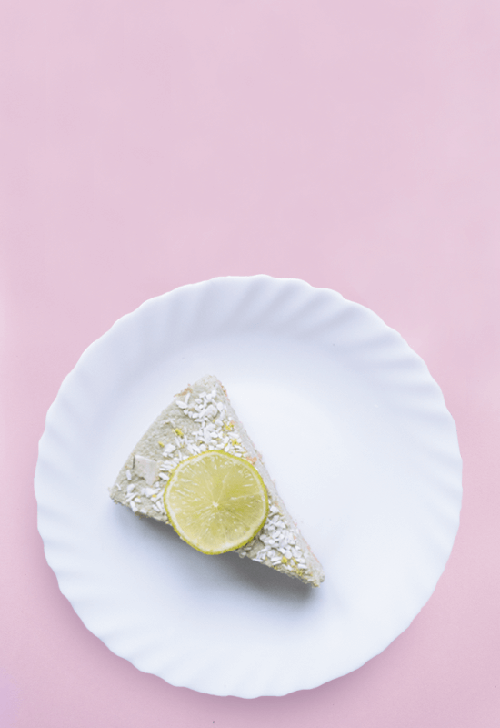 Vegan lime coconut cheesecake