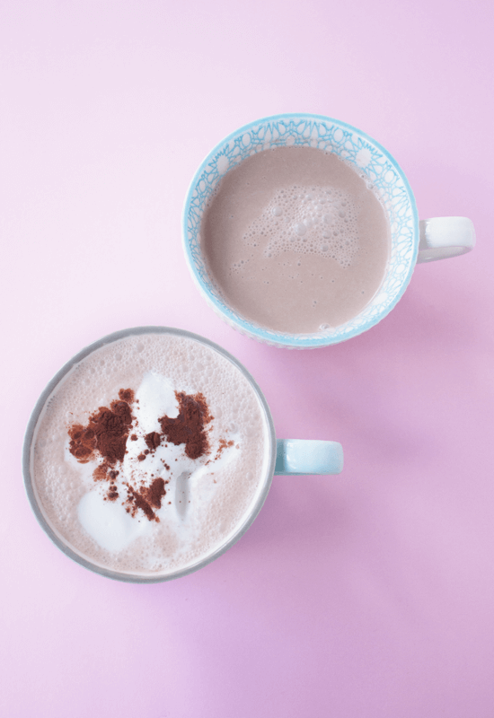 Dairy-free vegan spicy hot chocolate coconut milk